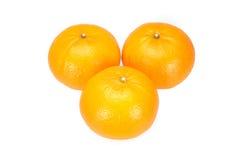 Oranges arranged to symbolize teamwork or unity Stock Image