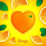 Oranges art composition Stock Images