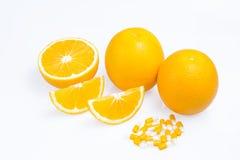 Oranges avec des tranches Images libres de droits