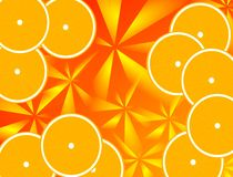 Oranges background. Abstract food's Background with oranges-illustrations stock illustration