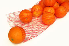 Oranges in a bag. Fresh oranges in a bag Royalty Free Stock Image