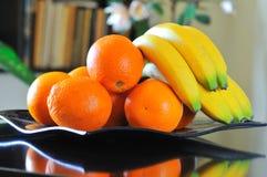 Oranges & bananas Royalty Free Stock Images