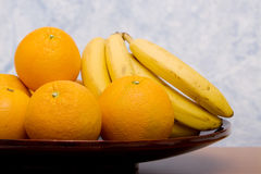 Oranges and bananas Royalty Free Stock Images