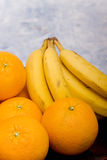 Oranges and bananas Royalty Free Stock Photos