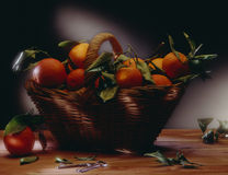 Oranges basket Royalty Free Stock Images