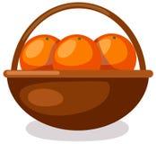 Oranges in basket Royalty Free Stock Photos