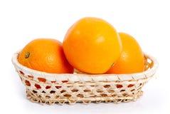 Oranges in basket. Royalty Free Stock Photo