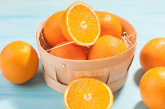 Oranges in a basket Royalty Free Stock Photography