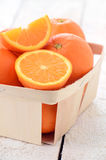 Oranges in the basket Stock Photo