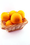 Oranges basket Royalty Free Stock Image