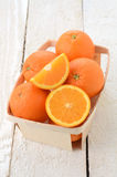 Oranges in the basket Royalty Free Stock Photo