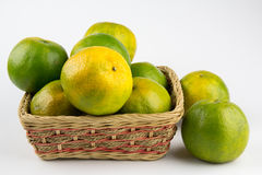 Oranges in a basket Royalty Free Stock Image