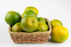 Oranges in a basket Stock Image