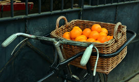 Oranges in a basket Stock Photography
