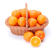 Oranges in basket Royalty Free Stock Photography