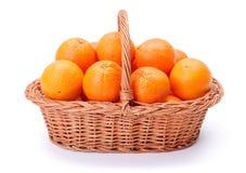 Oranges in basket Stock Photo