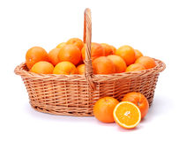 Oranges in basket Royalty Free Stock Image