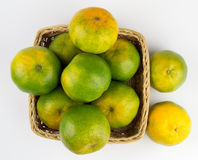 Oranges in a basket Royalty Free Stock Photos