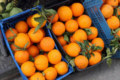 Oranges in baskets Stock Photography
