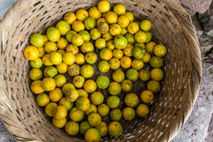 Oranges in a big basket Royalty Free Stock Image