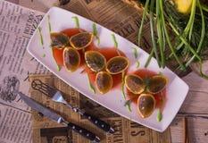 Oranges bourrées Image stock