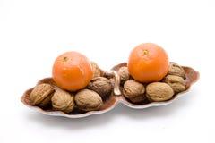 Oranges in bowl Stock Image