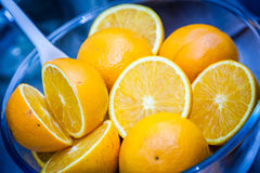 Oranges in a bowl Stock Photo