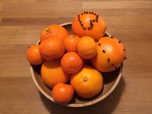 Oranges in a Bowl Stock Photography