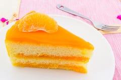 Oranges cake slice,fruit cake. Stock Photography