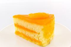 Oranges cake slice,fruit cake. Stock Image