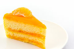 Oranges cake slice,fruit cake. Stock Photo