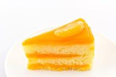 Oranges cake slice,fruit cake. Royalty Free Stock Photo