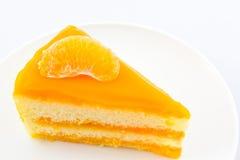 Oranges cake slice,fruit cake. Stock Images