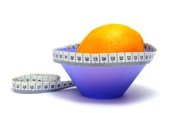 Oranges calories. Calories calculation Royalty Free Stock Photography