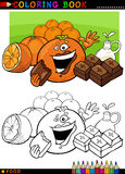 Oranges and chocolate for coloring Stock Photos