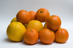 Oranges and clementines Stock Photography