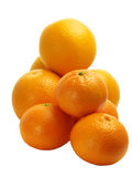 Oranges and clementines stock image