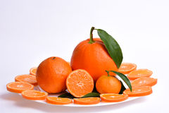 Oranges, clementines and mandarine Royalty Free Stock Images