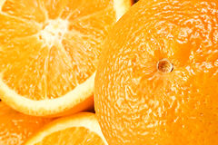 Oranges close-up Stock Image