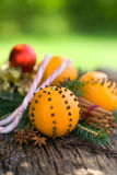 Oranges with cloves Royalty Free Stock Images