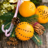 Oranges with cloves Stock Photo