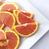 Oranges coupées en tranches Photo libre de droits