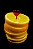 Oranges coupées en tranches Image stock