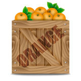 Oranges crate Stock Photography