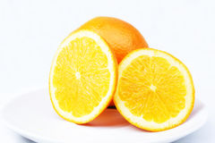 Oranges cross-section Stock Photography