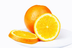 Oranges cross-section Stock Photos