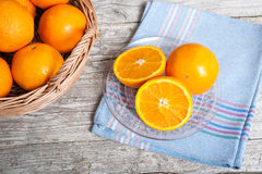 Oranges cut Royalty Free Stock Images