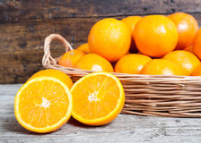 Oranges cut Stock Photos