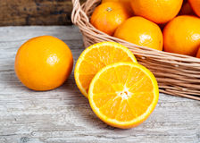 Oranges cut Royalty Free Stock Photo