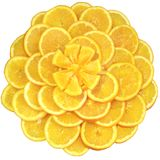 Oranges cut on segments Stock Photography